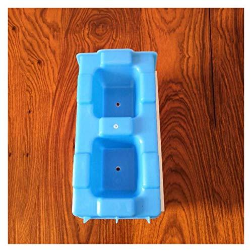 Molde Cemento 40cm de plástico Fácil Rápida y Barata de Economía construcción Hueca Cemento/hormigón Pavimentación Enclavamiento de ladrillo Bloque de Molde Moldes Hormigon (Color : Light Grey)