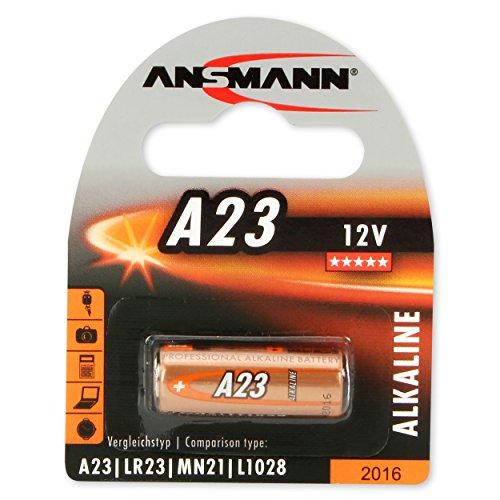 ANSMANN Alkaline Batterie A23 (12V) für Garagentoröffner, Alarmanlage, Funkauslöser für Kamera, Messgeräte, Klingel usw..
