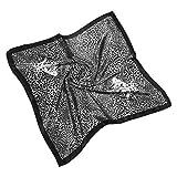 MYBOON Bufanda de Cuello Cuadrado con Estampado de Animales de Leopardo Vintage Bohemio de 60x60cm para Mujer, Chal de satén de Sarga, Bolso de Mano, Bandana Decorativa