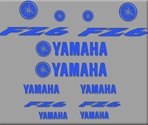 Ecoshirt I8-4WVW-A2X5 Pegatinas Moto Fz6 R271 Stickers Aufkleber Decals Autocollants Adesivo, Azul