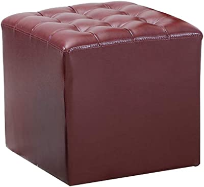 Amazon Com Monarch Specialties Leather Look Ottoman