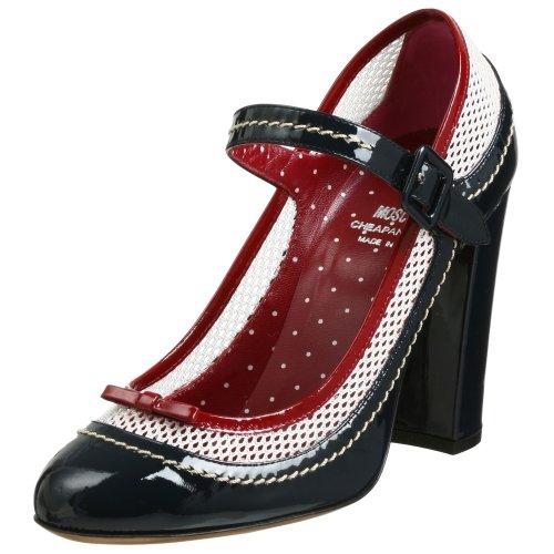 MOSCHINO Cheap and Chic Coco Mary Jane Zapatos de tacón para Mujer, Azul/Rosso/Bianco, 39.5 EU (US Women's 9.5 M)