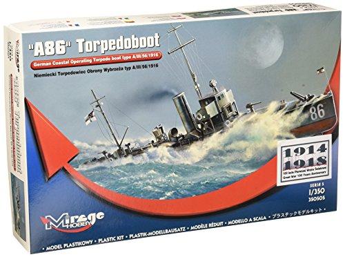 Mirage Hobby 350505, 1: 350 échelle,e type torpilleur A / III / 56/1916, kit de modèle en plastique
