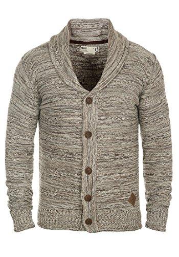 !Solid Mervin Herren Strickjacke Cardigan Grobstrick Winter Pullover mit Schalkragen, Größe:XL, Farbe:Dune (5409)