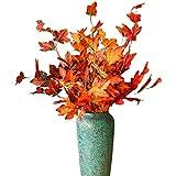 UOEIDOSB 5 Piezas 80,5 cm Hoja de Arce Flores Artificiales decoración del hogar Fiesta de Boda Arreglar Flores Falsas Flor de Pared Navidad