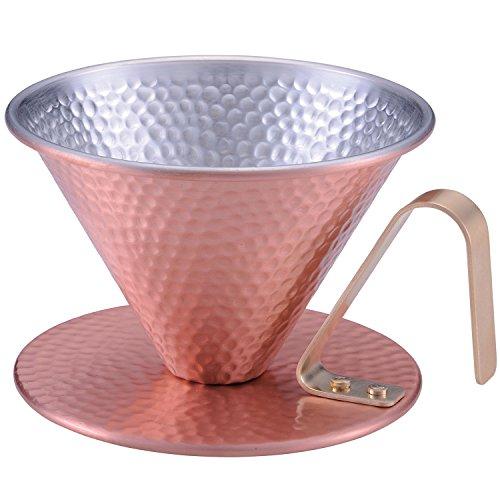 田辺金具 純銅のコーヒードリッパー 槌目 4086