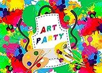 HD 7x5ftアートパーティーの背景カラフルな絵画写真の背景のテーマパーティー写真壁紙写真ブース小道具BJYYFH62