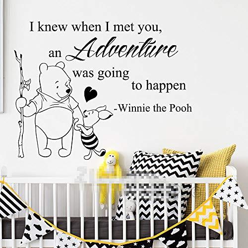 Winnie l'ourson sticker aventure citation pour les chambres d'enfants Winnie l'ourson pépinière décoration pour enfants