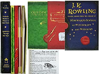 JK Rowling Classic Books from the library of Hogwarts School of Witchcraft and Wizardry : Fantastic Beasts and Where to Find Them / Quidditch Through the Ages