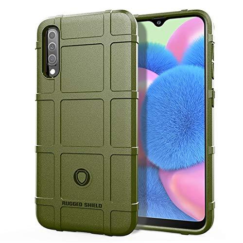 MENGHONGLLI Teléfonos móviles Maletas de Transporte Funda de TPU a Prueba de Golpes de Cobertura Total for Galaxy A30s (Color : Army Green)