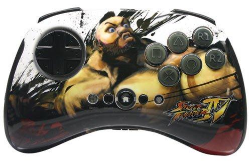Mad Catz Street Fighter IV Fightpad Wireless Zangief analog, Spielekonsole, kabellos, Gamepad