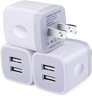 USB 充電器 【3個セット】 usb コンセント PSE認証 2USBポート 軽量 コンパクト スマホ充電器 iPhone iPad Samsung Galaxy Xperiaなと対応 (ホワイト)