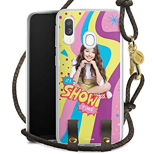 DeinDesign Carry Case kompatibel mit Samsung Galaxy A40 Handykette Handyhülle zum Umhängen Disney Soy Luna Girl