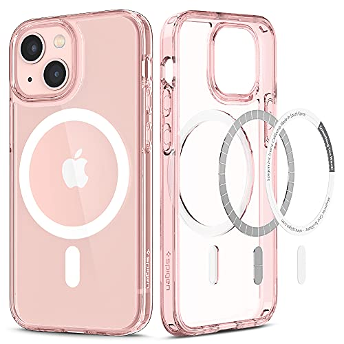 Spigen Funda Magnética Ultra Hybrid mag Compatible con iPhone 13 Mini - Rosa Cristalina