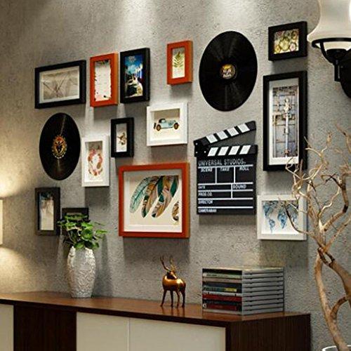 DENGJU Classique Cadre Photo Solide Collage En Bois Combinaison Salon Chambre Cadres Photo Mur Combinaisons Créatives Moderne Simple Salle À Manger Photo Murs