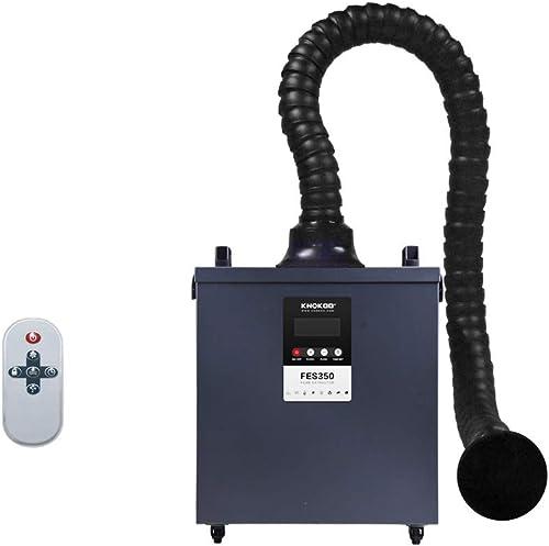 high quality KNOKOO wholesale Laser Solder online Fume Extractor FES350 Soldering Smoke Absorber for Laser Marking and Laser Engraving ESD Welding Station(Gray) online