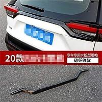 車のスタイリングトヨタRAV4 2020 absクロームリアトランクリッドトリムカバートリム車-カバー-3