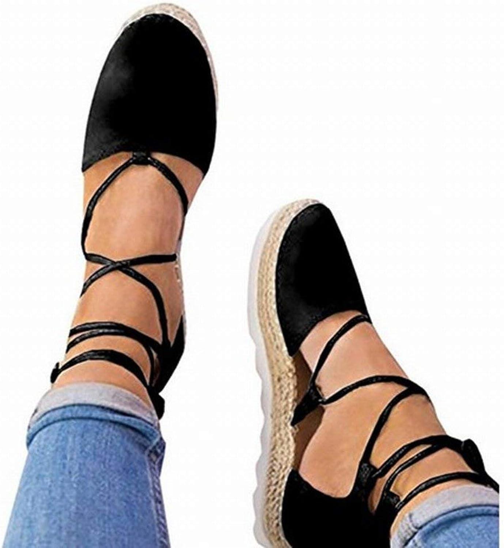Oudan Kreuzgurte Flache Ferse Seile Damenschuhe (Farbe   Schwarz, Größe   39)  | Erste Gruppe von Kunden  | Mittel Preis  | Günstigen Preis