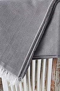 Textilhome - Funda Multiusos Foulard Cubre Cama Dante - 230x285 cm - para Funda Sofa 3 Plazas, Protector Cubre Sofa. Color Gris