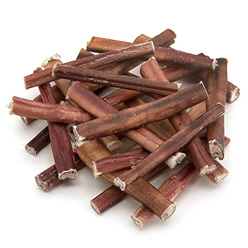 GigaBite 6 Inch Bully Sticks (25 Pack) - All Natural, Free Range Beef Pizzle Dog Treat - By Best Pet Supplies (PB-06-25)