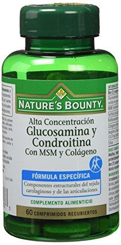 Nature's Bounty Glucosamina y Condroitina con Msm y Colágeno - 60 Comprimidos
