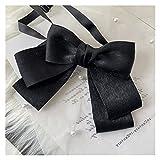 Broche pajarita Versión coreana de alta gama Professional Professional Ladies Bow Tiele Camiseta de las mujeres Accesorios uniformes Bank Hotel Broche Bowtie Joyería hecha a mano ( Color : Black )
