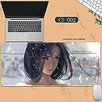 素敵なマウスパッド特大アイスプリンセスゴーストナイフ風チャイムプリンセスアニメーション肥厚ロック男性と女性のキーボードパッドノートブックオフィスコンピュータのデスクマット、Size :400 * 900 * 3ミリメートル-CS-002