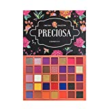 Makeup Depot USA High Pigmented 35 Colors Eyeshadow Professional Makeup Palette Easy to Blend Metallic and Shimmers Sweatproof and Waterproof - Preciosa