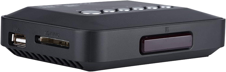 Media Player, 110V-240V (VDE) 1080P Memory Card Audio Video Player Digital HDMI1.3 Interface 1080P Media Player for USB Drives for Cards(U.S. regulations, Transl)