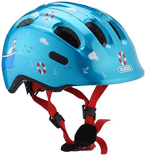 ABUS Smiley 2.0 Kinderhelm - Robuster Fahrradhelm für Mädchen und Jungs - 72571 - Blau mit maritimen Muster, Größe M