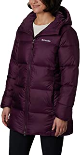 Columbia Women's Plus Size Puffect Mid Hooded Jacket, Black Cherry, 1X