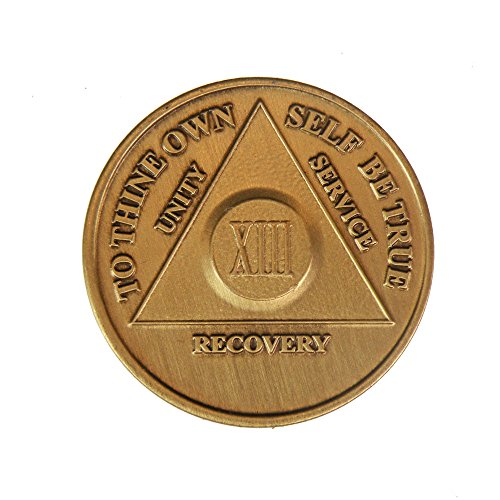 13 Year Bronze AA (Alcoholics Anonymous) - Sober / Sobriety / Birthday / Anniversary / Recovery / Medallion / Coin / Chip