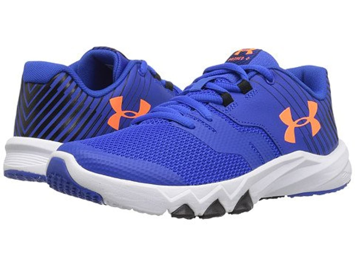 (アンダーアーマー) UNDER ARMOUR キッズランニングシューズ??スニーカー?靴 UA BPS Primed 2 (Little Kid) Ultra Blue/White/Magma Orange 10.5 Little Kid n/a M [並行輸入品]