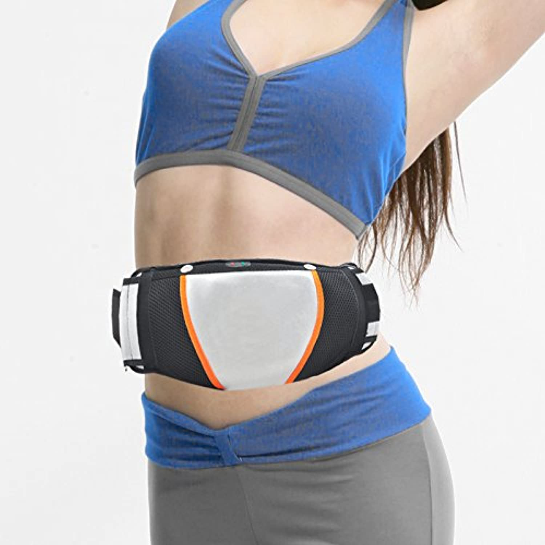 Zorvo Electric Exercise Heat Loss Weight Vibrating Shape Slimming Massage Belt Fitness (Black)