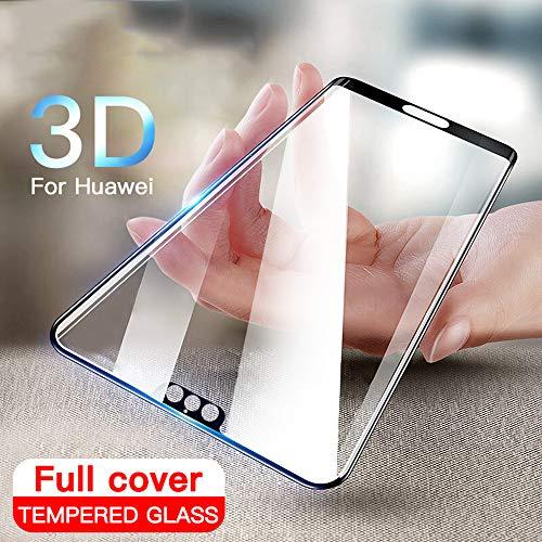 KDLLK Vidrio Templado de Cubierta Completa 3D, para Huawei P20 Pro P10 Lite Plus Protector de Pantalla, para Huawei P20 Honor 10 Lite 20 Vidrio Protector