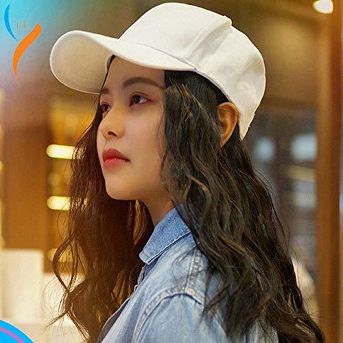 Junww 2020 new fashion original wig baseball cap one sun visor novelty street hip hop hat halloween costumes for women One Size A