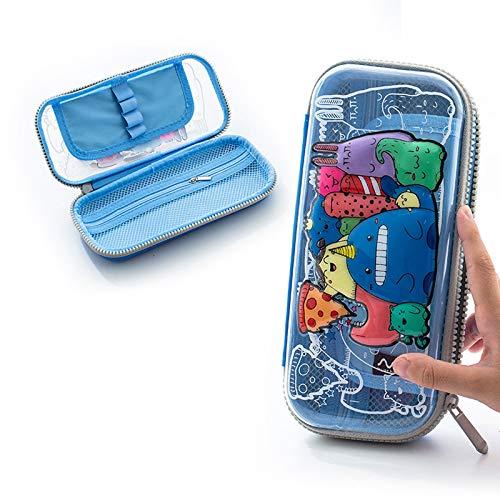 LWY Estuche para lápices de gran capacidad con múltiples compartimentos con cremallera, organizador portátil para escuela, estudiantes, niñas, adolescentes y adultos (color: 3)