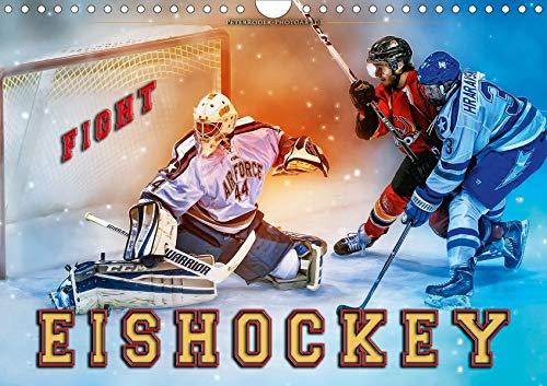 Eishockey - Fight (Wandkalender 2020 DIN A4 quer): Teamsport der Extra-Klasse - Kraft, Ausdauer, Härte und Schnelligkeit (Monatskalender, 14 Seiten ) (CALVENDO Sport)