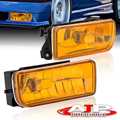 AJP Distributors Front Driving Fog Lights Lamps Foglights Pair Right + Left For 1992 1993 1994 1995 1996 1997 1998 BMW E36 M3 318i 318ti 323i 328i 328is 325i (Amber)