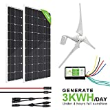 ECO-WORTHY 800W 12V/24V Solar Wind Turbine Generator Kit: 400W Wind...