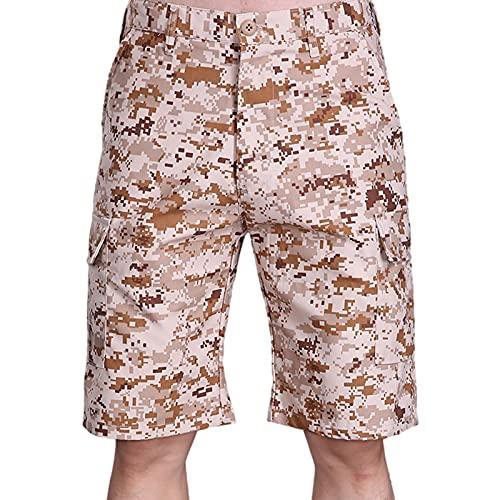 Q&M Hombre Pantalones Cortos de Deporte Elastica Ajustable Chandal Shorts para Fitness, Running y Casual