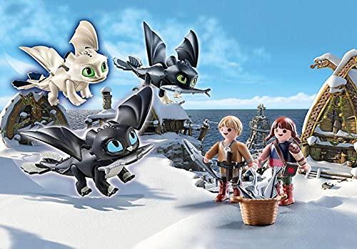 Playmobil Niños Vikingos con bebés dragón