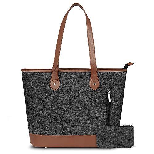 &liyanan Women Laptop Tote Bag - Notebook-Umhängetasche Leichte Business Work Office-Aktentasche aus Nylon mit Mehreren Taschen für Computer/MacBook/Ultraboo,D