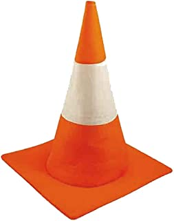 Traffic Cone Hat Adult Funny Fancy Dress Stag Hen Highway Orange and White Hat One Size
