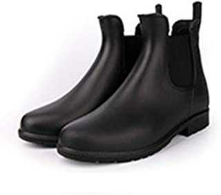 Nuoxi Rain Boots Bottine Four Seasons Rain Boots for Ldies Elasticn Boots Water Shoes