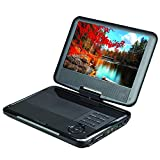 SuperSonic SC-179 Portable DVD Player 9' High Definition: USB and SD inputs with Built-in Lithium Ion Battery and Swivel Display