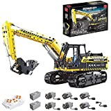 BIANGEY T4001 Block Block Excavator, versión dinámica del Kit de ensamblaje de Modelo de ingeniería de ingeniería eléctrica de maquinaria de excavación, Compatible con tecnología Lego