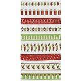 Invitado Estrellas multipropósito Jingle Bell Copos de Nieve Árbol de Navidad Holly Berry Stocking Bastones de Caramelo Suave Grande Lindo Toallas de baño Mano Absorbente