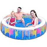 ruixin Piscina inflable – Piscina familiar redonda de 75 pulgadas, piscina plegable de verano para adultos y niños, jardín al aire libre, piscina de patio trasero, adecuado para más de seis años