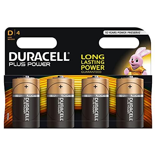 Duracell Plus D Batterie, Confezione da 4